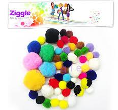 ziggle pom pom cotton balls cloth balls soft balls craft combo