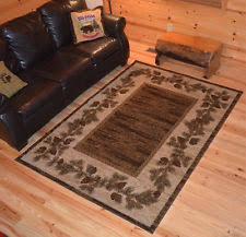 Rustic Cabin Lodge Area Rugs Brown Lodge Area Rugs Ebay