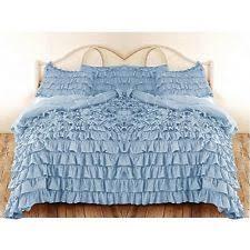 1872 serena queen duvet comforter cover sky blue multi 100