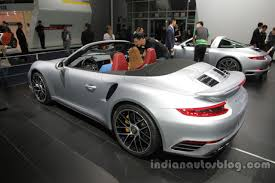porsche turbo convertible 2016 porsche 911 turbo s cabriolet rear three quarters left side