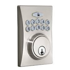 Entry Door Locksets Gatehouse Satin Nickel Single Cylinder Motorized Electronic Entry