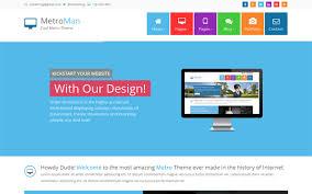 menu templates for bootstrap metroman responsive metro theme wrapbootstrap