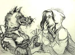 red riding hood drawings u2014 marcia neblett