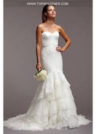 Chapel Train Wedding Dresses Amazing Sweetheart Neckline Dropped Waist Tiered Tulle Lace