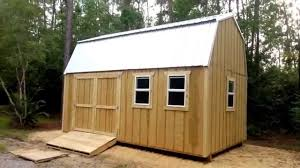 12x20 barn gambrel shed 1 shed plans stout sheds llc youtube