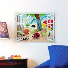 kids room cute 3d window insect kids room decor forest wall cute 3d window insect kids room decor forest wall sticker wall pertaining to kids room forest