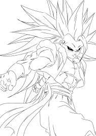 how to draw goku super saiyan 4 coloring page free download