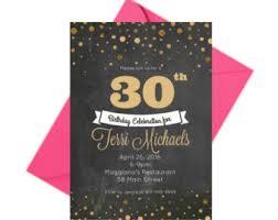 30th birthday invite etsy