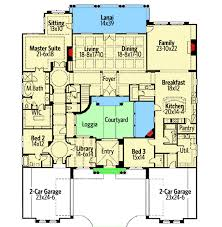 courtyard plans exciting courtyard mediterranean home plan 16826wg