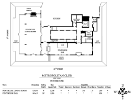 floor plans u0026 capacities metropolitan club of new york
