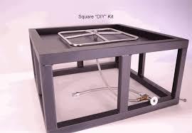 Custom Gas Fire Pits - custom square fire pit kit 27