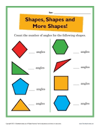 shapes 2nd grade geometry worksheets