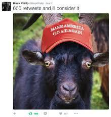 Billy Goat Meme - black phillip blackphillip twitter