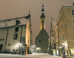 city lights at town center items similar to travel decor print of snowy streets in medieval