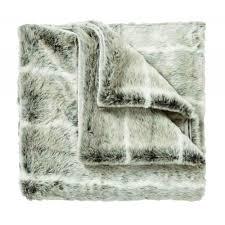 bedeck cosy malt faux fur bed throw 140cm x 180cm bedeck from