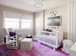 purple nursery accents contemporary nursery