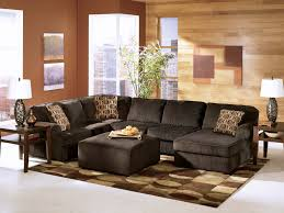 Living Room Grey Microfiber Sectional Navy Blue Sectional Sofa