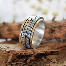 I Am My Beloved S And My Beloved Is Mine Ring Michal Gold And Silver Spin Ring