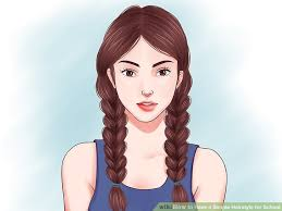 hair styles in two ponies 15 ways to have a simple hairstyle for school wikihow