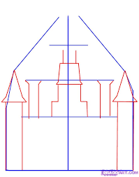 how to draw a castle step by step buildings landmarks u0026 places