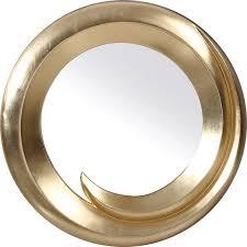 Circle Wall Mirrors Transitional Gold Round Wall Mirror