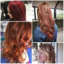 catchy red hair highlights for fall new hair color ideas
