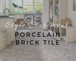 style statement porcelain brick tile