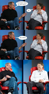 Bill Gates Memes - steve jobs vs bill gates