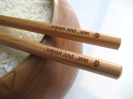 engraved chopsticks personalized bamboo chopsticks from high point gifts laser
