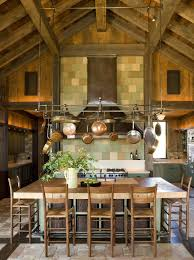 Hanging Kitchen Cabinets On Wall Wall Mounted Pot Rack Long Drop Fluted Shade Pendant Lights Oak