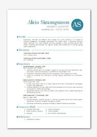 Resume Ongoing Education Example Of Modern Resume Resume Blue Side Resume Template Cielo