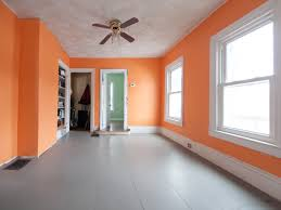 Bright Orange Paint by Putting A Band Aid On A Dining Room