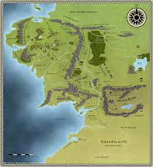 Map Of Mordor Middle Earth World Map By Spicedwinefanfic On Deviantart