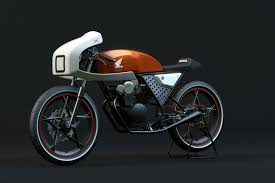 honda dream 50 cafe cgi on behance