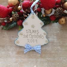 personalised baby boy 1st christmas tree decoration gift