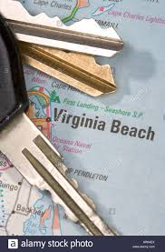 A Map Of Virginia by A Close Up Of A Map Of Virginia Beach Virginia With Car Keys Stock