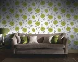homebase feature wall camilla wallpaper green ebay