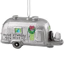 silver rv cer trailer cing ornament ca