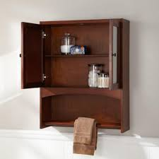 bathroom dark brown cherry wood bathroom medicine cabinet with