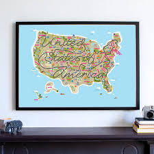 United States Map Wall Art by Cute Kids Room Decor Usa Map Nursery Map United States Of