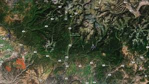 Satellite View Map Map Of Southwest Colorado