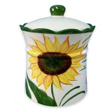 sunflower kitchen canisters buy sunflower kitchen from bed bath beyond