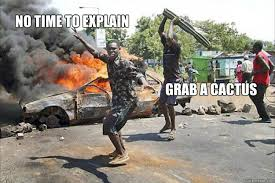 No Time To Explain Meme - no time to explain grab a cactus no time to explain quickmeme