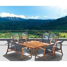 Mountain Outdoor Furniture - amazonia cosmopolitan 8 piece conversation patio furniture set