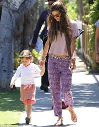 hippie style hippie chick alessandra ambrosio flashes her toned tummy in