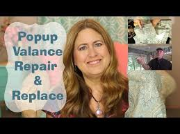 Replacement Pop Up Camper Curtains Pop Up Tent Trailer Valance And Curtains Repair And Replace Youtube