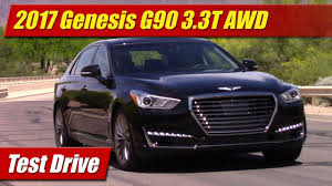 lexus ls vs genesis g90 2017 genesis g90 3 3t awd test drive youtube