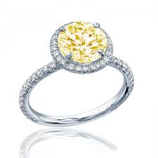 fancy yellow diamond engagement rings estate style diamond engagement ring certified 3 25 ct