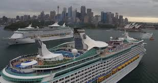sydney harbor cruises photos australia s two cruise ships crossing paths for the