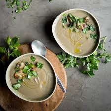 mushroom and lentil soup with miso lauren caris cooks